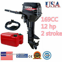 Hangkai 12hp 2stroke Outboard Motor Fishing Boat Engine Water Cooling Cdi System