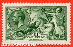 Sg. 403. N72 1. Andpound1.00 Green. A Fine Mounted Mint Example. B55727