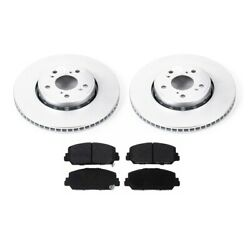 2-wheel Set Brake Disc And Pad Kits Front Driver And Passenger Side New Lh Rh