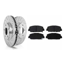 Brake Disc And Pad Kits 2-wheel Set Front Driver And Passenger Side New Lh Rh