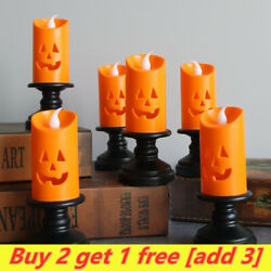 Halloween Candle Light LED Candlestick Lamp Holder Table Pumpkin Party Decor US