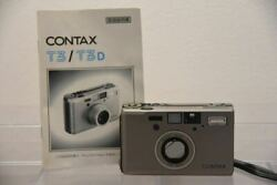 Used Contax T3 35mm Point And Shoot Film Camera Single Teeth Need Repair