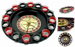 Shot Glass Roulette - Drinking Game Set 2 Balls And 16 Glasses 19 Piece Set