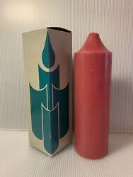 Partylite 3andrdquo X 9andrdquo Pillar Candle Cranberry With Bell Top S3923 Nos Nib