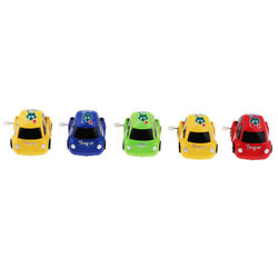 5x Antique Wind-up Pocket Mini Car Toys Tabletop Decor Red Green Blue Yellow