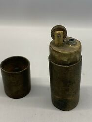 Vintage Rare Ww1 Trench Art Lighter Solid And Heavy Brass
