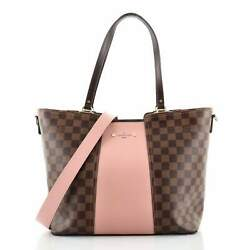Louis Vuitton Jersey Handbag Damier With Leather