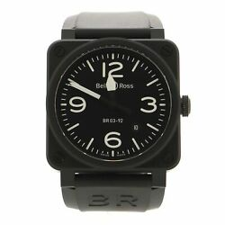 Bell And Ross Br03-92 Automatic Watch Ceramic And Rubber 42