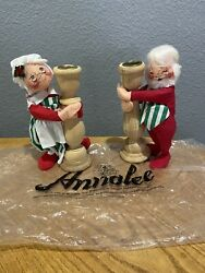 Annalee Candlestick Set Mr. And Mrs. Claus
