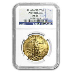 2014 1 Oz Gold American Eagle Ms-70 Ngc Early Releases - Sku 79332
