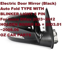 Driver Side Door Mirror For Holden Rodeo 2003-2012 With Blinker With Auto Fold