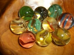 10 Vintage Collectable Shooter Cats Eye Marblesmarble Kingvitro Agate
