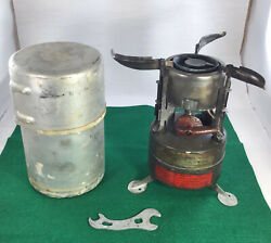 Vintage Us Military M1950 Stove 1967 With Case And Tool Untested Free Shipping