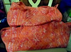Vera Bradley Small And Large Duffel Bag In Retired Hope Toile Pattern
