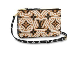 Louis Vuitton Special Limited Edition Crafty Double Zip Pochette Bag Purse Nwt