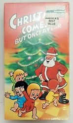 Christmas Comes But Once A Year Sealed Vhs Visions Of Christmas Vtg Rare