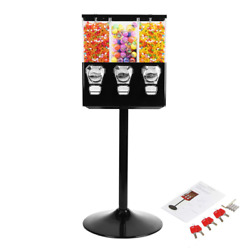 Beamnova Candy Vending Machine Dispenser On Stand Commercial 3-containers Gumbal
