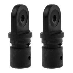 2 Pieces Boat Bimini Top Fitting 7/8and039and039 22mm Tube Inside Round Eye End Hardware
