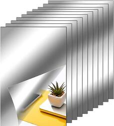 Flexible Non Glass Mirror Sheets Tiles Self Adhesive For Home Wall 10 6 X 9 Inch