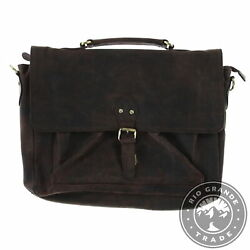 New Clifton Heritage Men's Laptop Messenger Bag Briefcase In Cocoa Leather