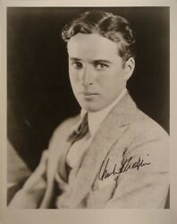 Charlie Chaplin Signed Photo - Modern Times - The Great Dictator- The Tramp Wcoa