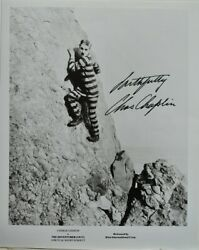 Charlie Chaplin Signed Photo- The Adventurer - The Great Dictator- The Tramp Coa