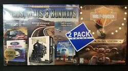 Harley Davidson Race Across America Ford Racing Railroad Airport Tycoon Sealed