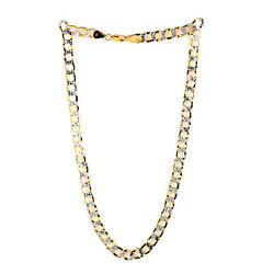 10k Yellow Gold Curb Necklace Jewelry Gift For Women Size 20 25.40 Grams