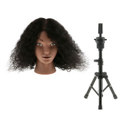 Cosmetology Hairdressing Practice Training Mannequin Head Human Hair Stand