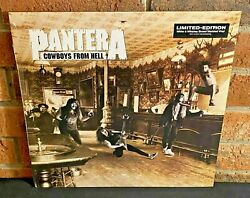 Pantera - Cowboys From Hell, Limited Colored Vinyl Lp New And Sealed Bend