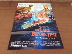 1988 The Land Before Time Original Movie House Full Sheet Poster