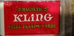Vintage Kling Magnetic Steel Playing Cards Red Replacement Card Deck Unopened