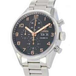 Tag Heuer Carrera Caliber 16 Chronograph 43mm Stainless Steel Black Dial Cv2...