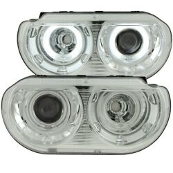 121307 Anzo Headlight Lamp Driver And Passenger Side New Coupe Lh Rh For Dodge