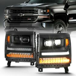 111420 Anzo Headlight Lamp Driver And Passenger Side New For Chevy Lh Rh Chevrolet