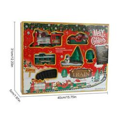Kid Gift Toy Christmas Musical Light Train Trees Box Set Carriage Ornament Decor