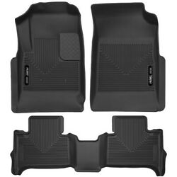 Set-h2153121 Husky Liners Set Of 2 Floor Mats Front New Black For Chevy Pair