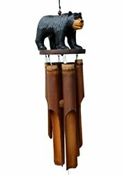 Cohasset Gifts 171bb Cohasset Black Bear Bamboo Wind Chime