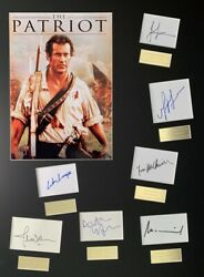 The Patriot, Mel Gibson Film Hand Signed Mounted Frame