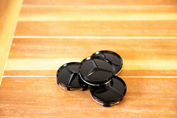 Set Of 4 Glossy Black Wheel Center Hub Caps Fits Mercedes-benz 75mm/3in