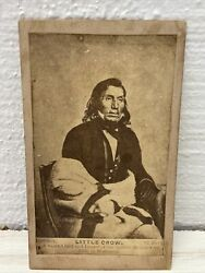Native American Indian Cdv Photo Little Crow Sioux Chief 1862 Vintage