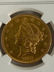 1851 20 Gold Double Eagle Liberty Head Ngc Certified Au Details