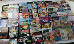 Retro Collectable Large Game Joblot Amiga Atari St Commodore Tested And Working
