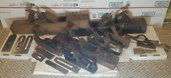 Lot Antique Wood Planes,blades, Accs. Stanly Victor 20 66•baily28•as Is 1 Lot