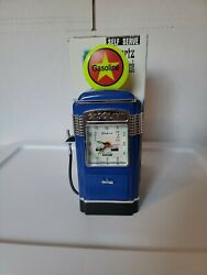 Vintage 90´s Clock Gas Station Gasoline Pump . Coin Bank New In Box
