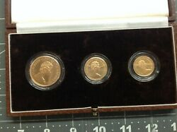 1983 United Kingdom Gold Proof Set - 3 Coins - 22k Highly Collectible Coins
