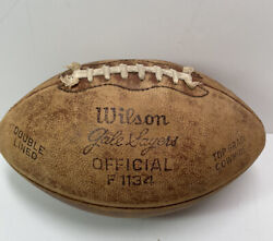 Vintage Football Top Grain Cowhide Ball W Laces Wilson Gale Sayers Chicago Bears