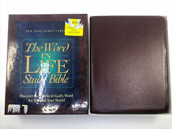 The Word In Life Study Bible Nkjv Ot Nt Complete 1996 Leather 2265bg Like New