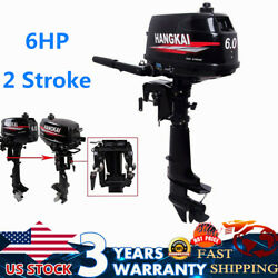 6hp 2-stroke Outboard Motor Engine Manual Tilt 4.4kw W/ Water-cooling Cdi System