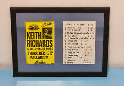 Keith Richards Hand Signed Poster From Super Deluxe Box Set Live Hollywood